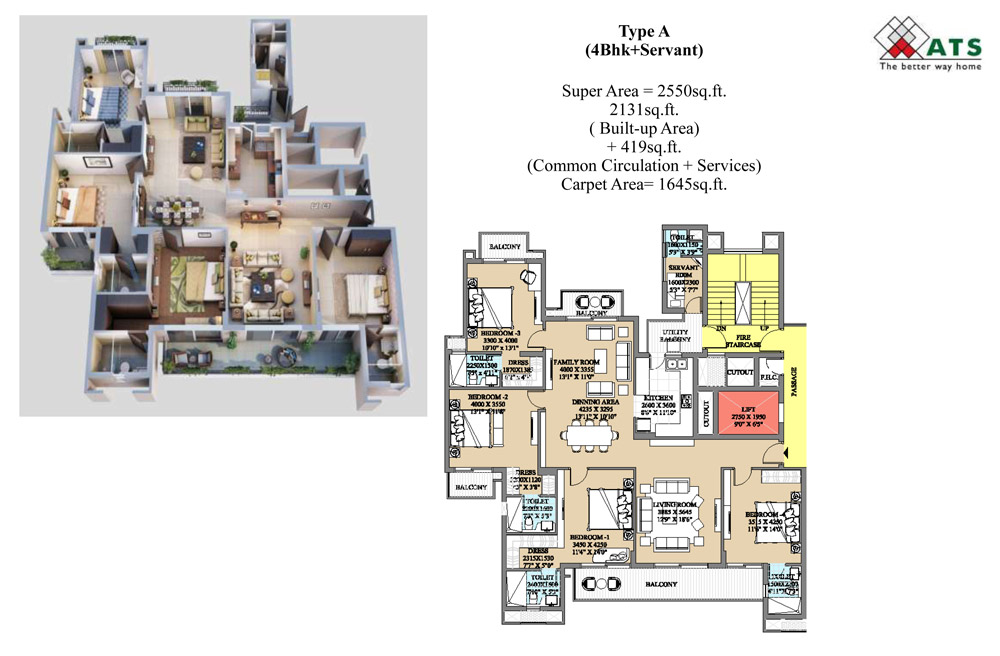 Ats Destinaire Sector 1 Noida Extension Price List Brochure Floor Plan